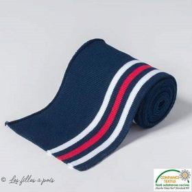 Bord côtes plat à rayure - Bleu, blanc et rouge Autres marques - Tissus et mercerie - 1