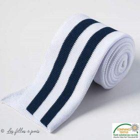 Bord côte double à rayure - Blanc et bleu marine Autres marques - Tissus et mercerie - 1