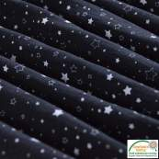 Tissu double gaze de coton motif étoile - Noir et blanc - Oeko-Tex ®