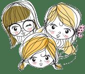 minilogo - Les filles à pois... - Mercerie créative